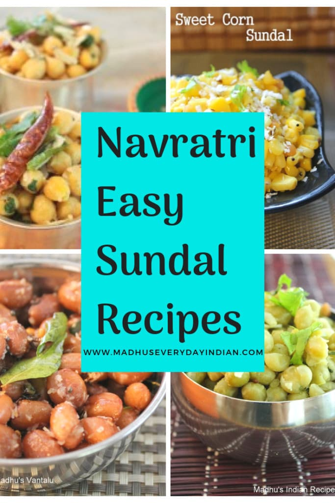 navratri easy sundal recipes
