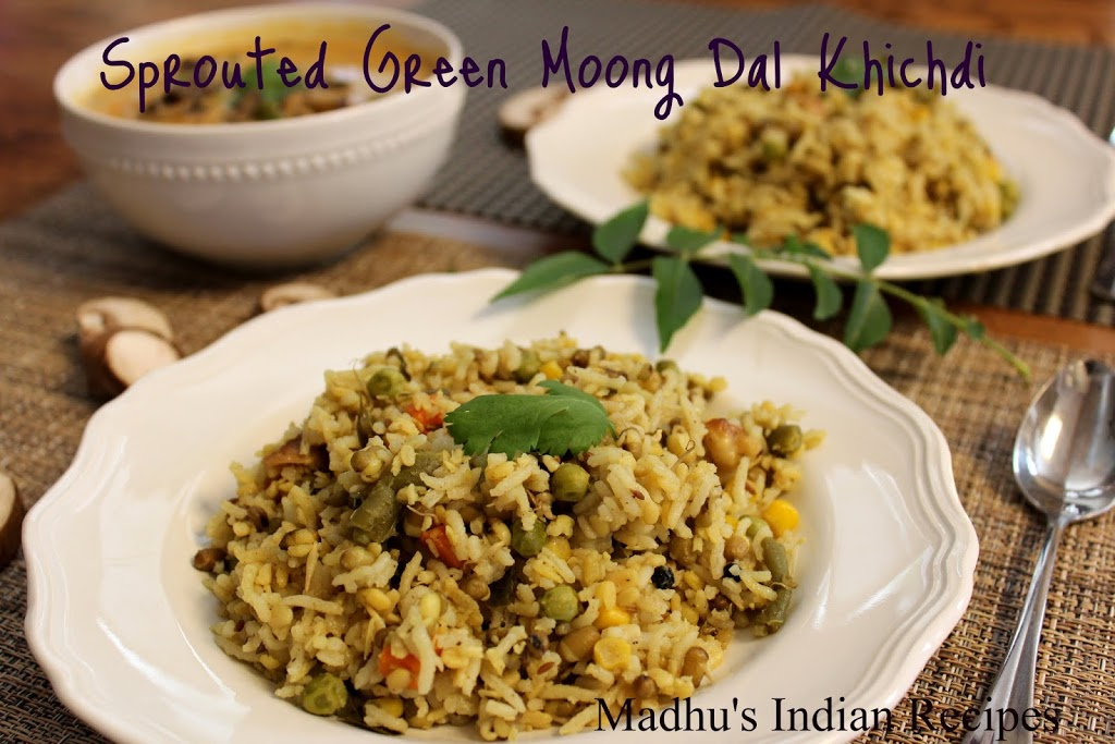 Sprouted Green Moong dal Khichdi | Sprouted Dal Recipes ...