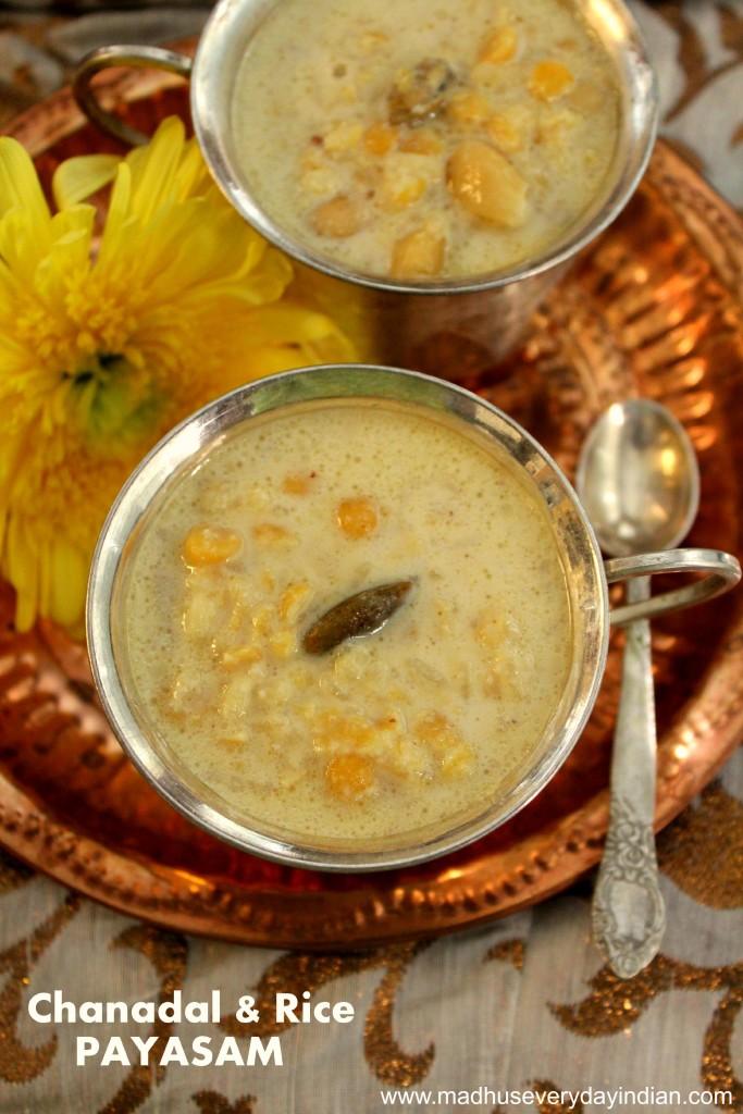 chanadal and rice payasam