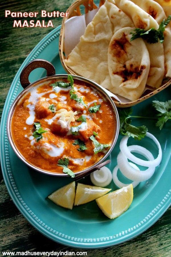 paneer butter masala recipe, paneer makhani, restaurant style paneer butter masala