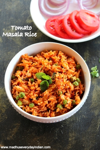 tomato masala rice recipe