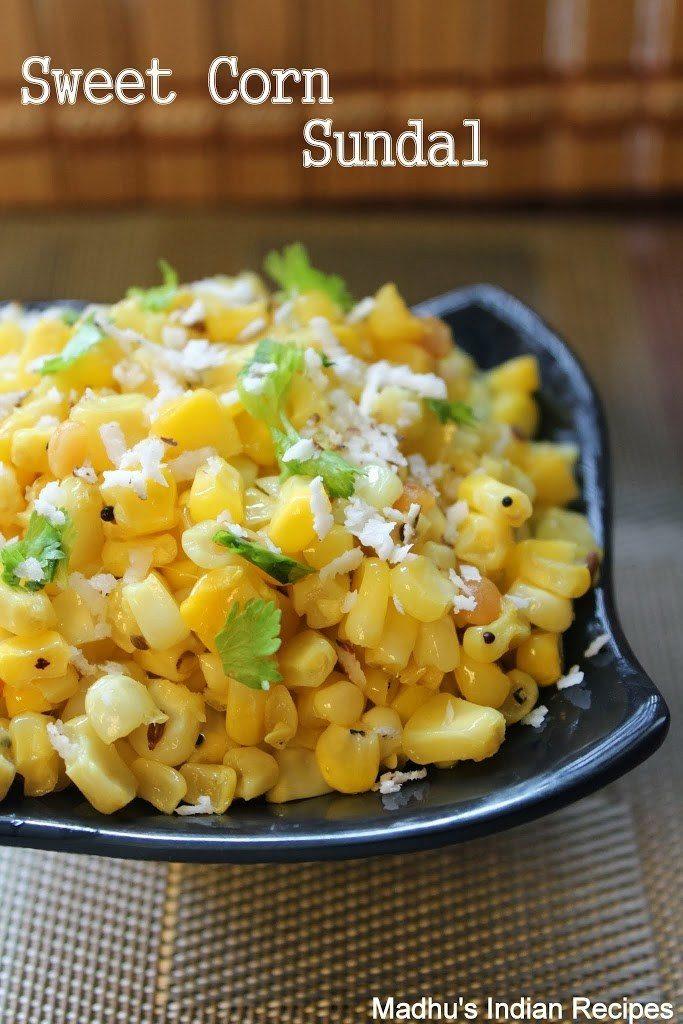 sweet corn sundal as neivedyam for navratri