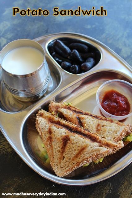 potato sandwich, aloo sandwich, sandwich recipe