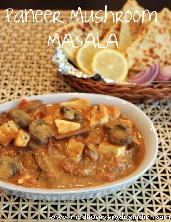 paneer mushroom masala curry