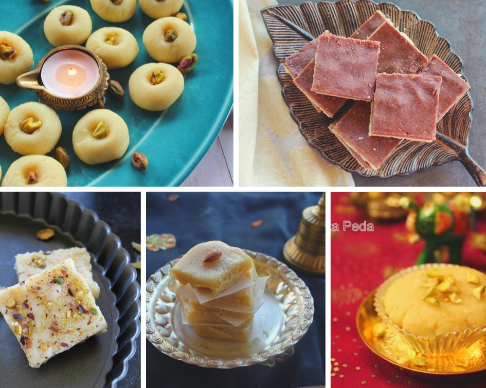 collection of peda and burfi