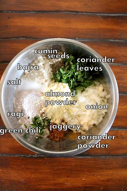 bajra ragi rotti ingredients