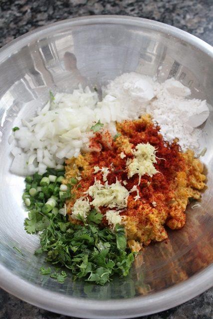 sweet corn vada recipe ingredients