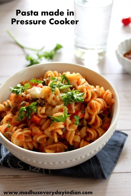 pressure cooker pasta with parsley and cheese