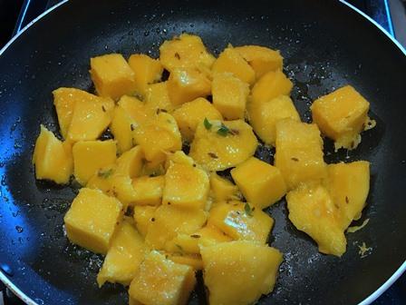 sauteed mango