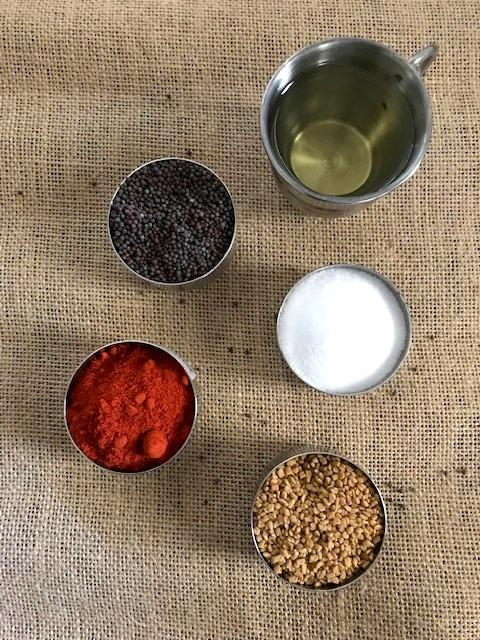 ingredients to make avakaya
