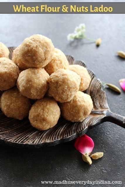 wheat and nuts ladoo recipe
