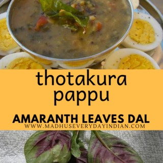 thotakura pappu or amaranth leaves dal