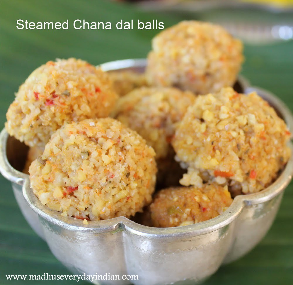 steamed chana dal balls