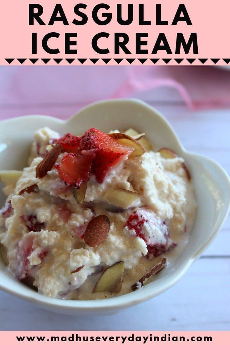 Rasgulla Ice Cream Recipe