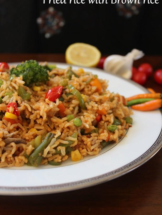 fried rice using brown rice