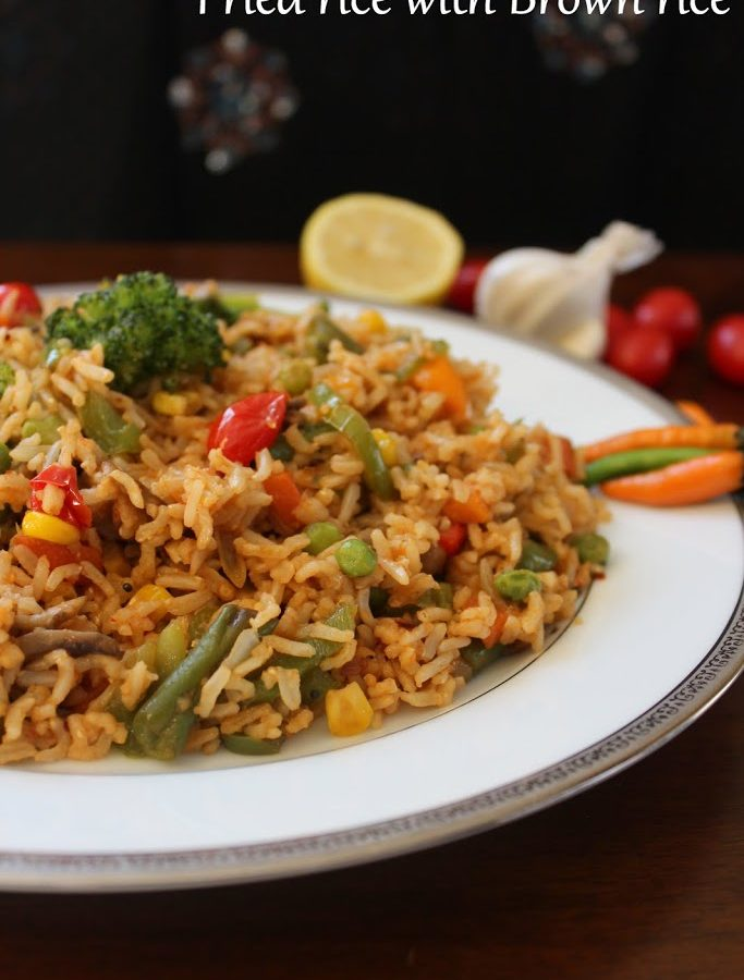 fried rice using brown rice