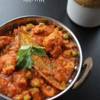 soya chunks and peas kurma