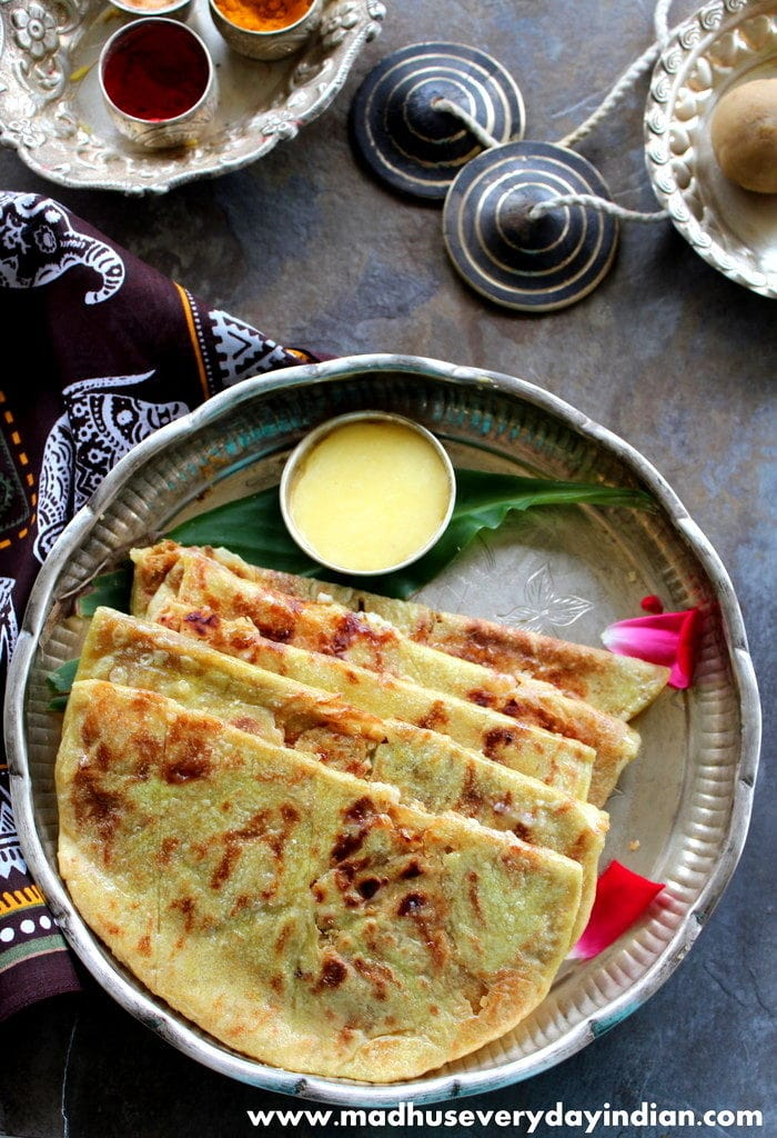 puran poli also called obbatu and bobbatlu