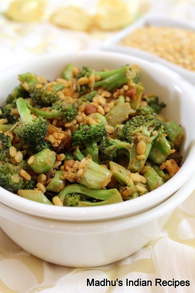 Broccoli Moong Dal Stir Fry Indian Broccoli Recipes Madhu S Everyday Indian