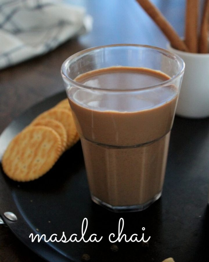 masala tea served with crackers