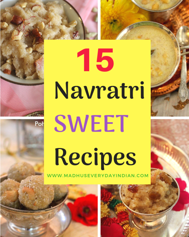 collection of 15 navratri sweet recipes. Navratri also called navaratri is a hindhu festival.enjoy my collection of laddoo, peda, barfi, halwa recipes.#navratri #dussehra #sweets #madhuseverydayindian