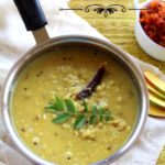 mamidikaya pappu or mango dal is a tangy dal amde with raw green mango and toor dal.