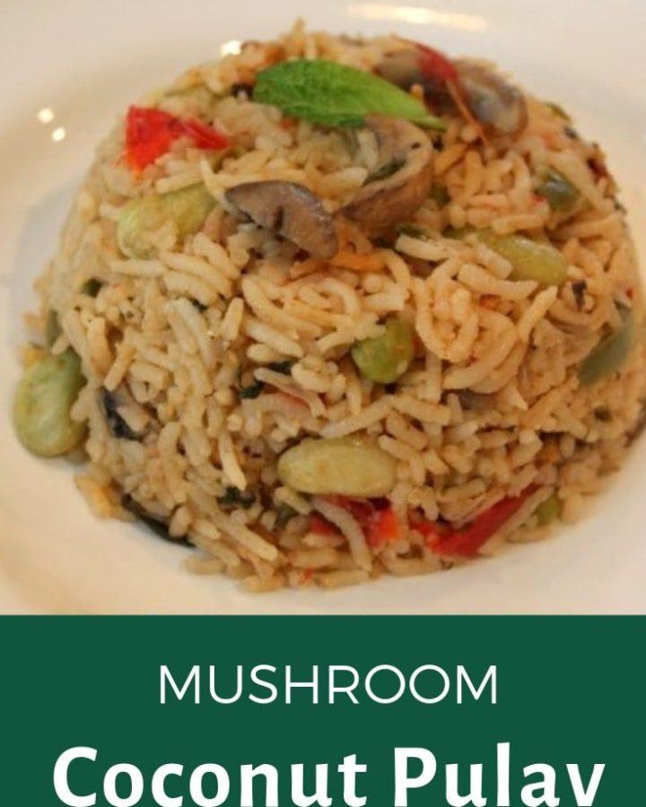 mushroom coconut pulav recipe