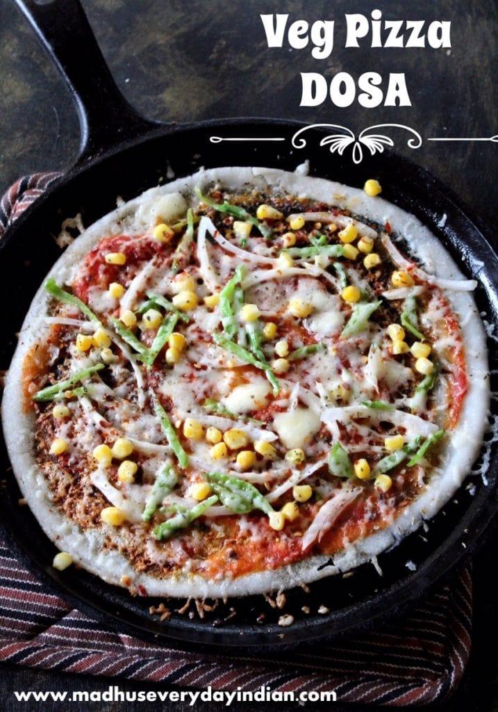 street style veg pizza dosa