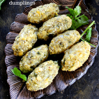 nuchinunde are steamed toor dal dumplings. healthy and gluten free breakfast from karnataka.