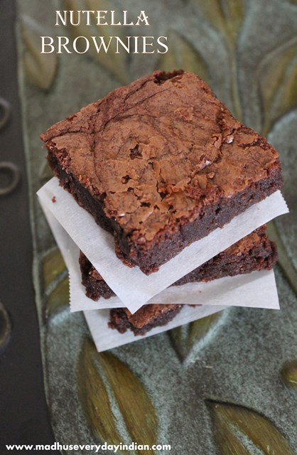 easy and incredible nutella brownies