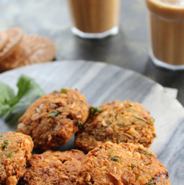 masala vada made with toor dal, a tasty evening snack from south india.