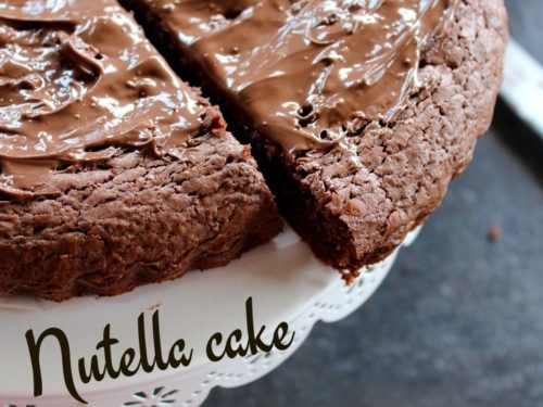Quick Easy 3 Ingredient Nutella Cake Madhu S Everyday Indian