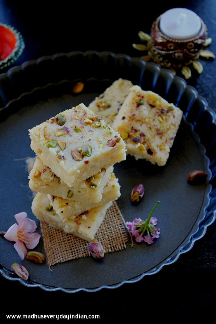 Instant Kalakand Recipe (with Ricotta Cheese)