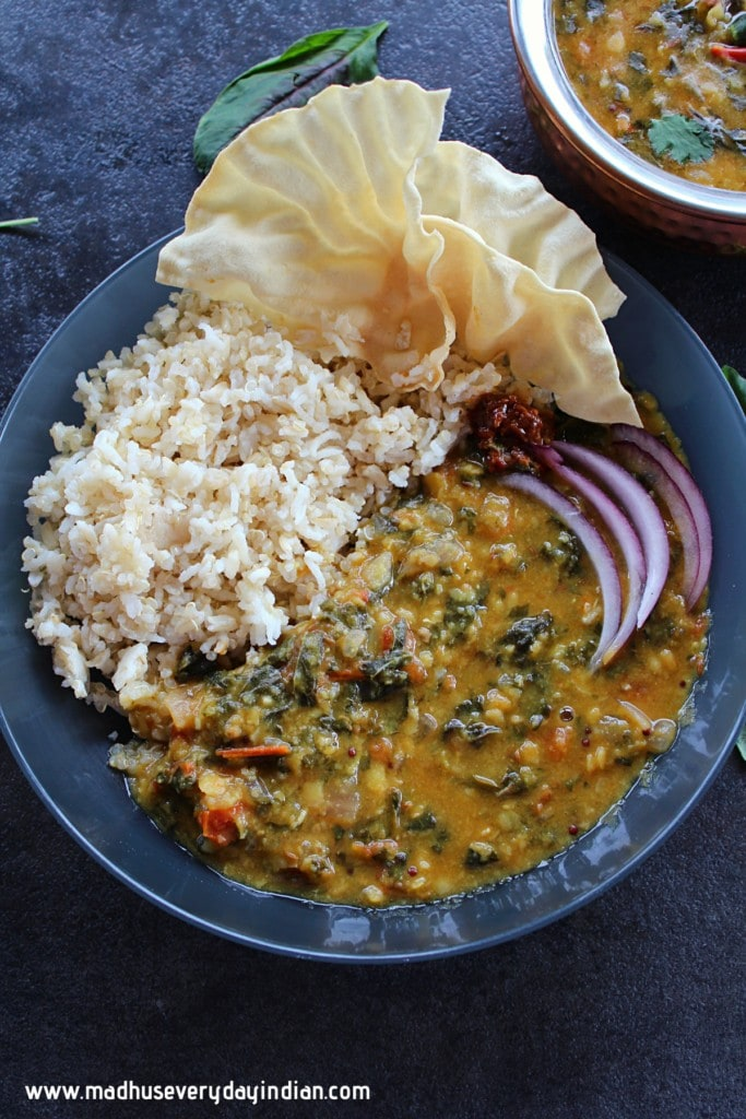 amaranth dal with rice