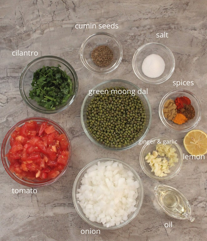 green moong dal ingredients
