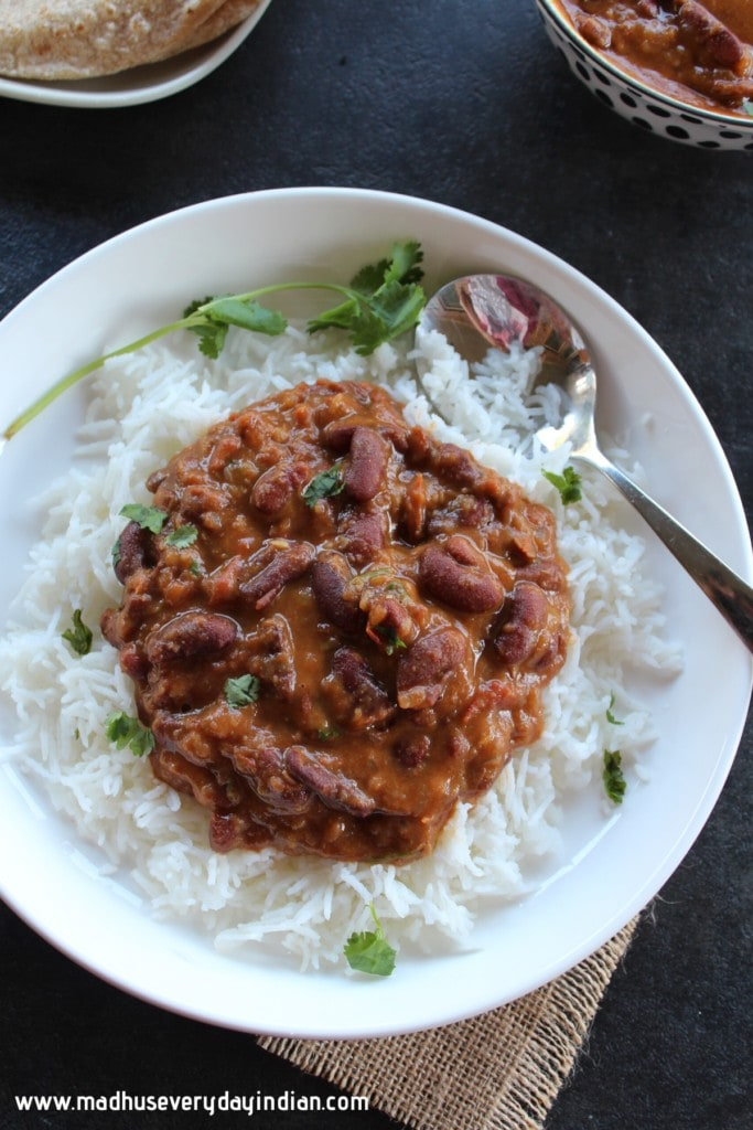 rajma served with rice