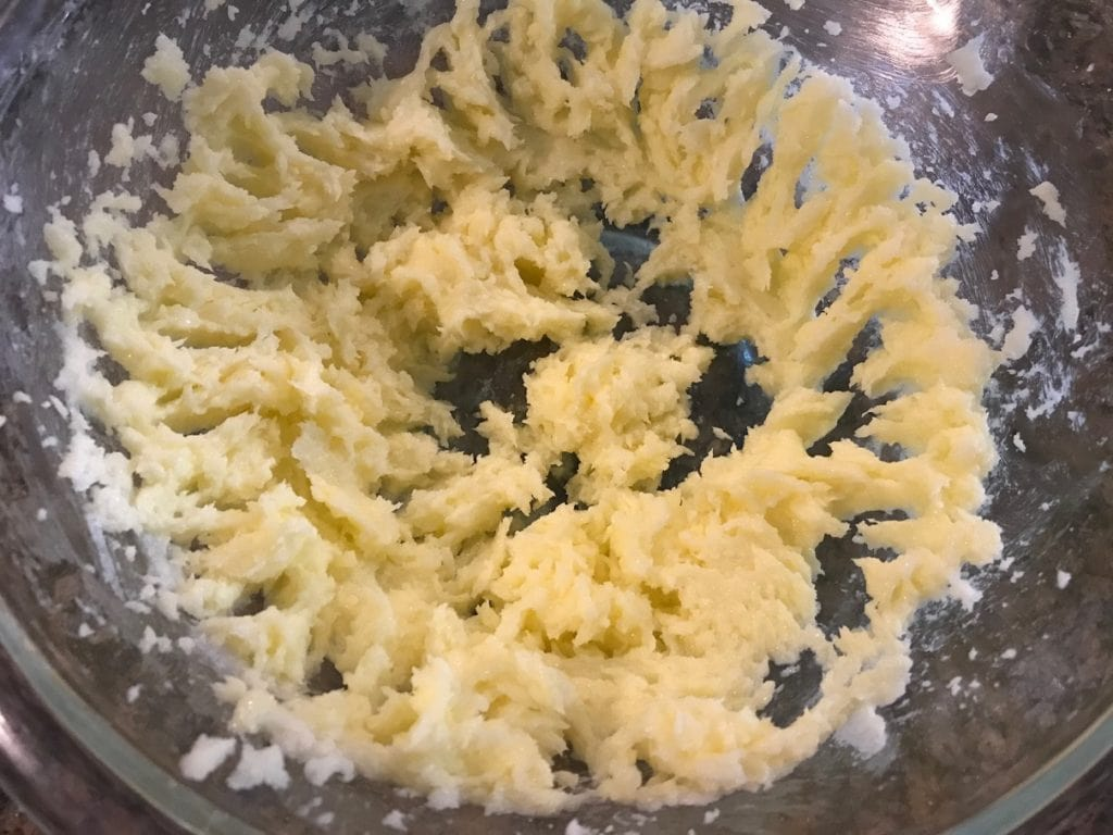 creamed butter and sugar
