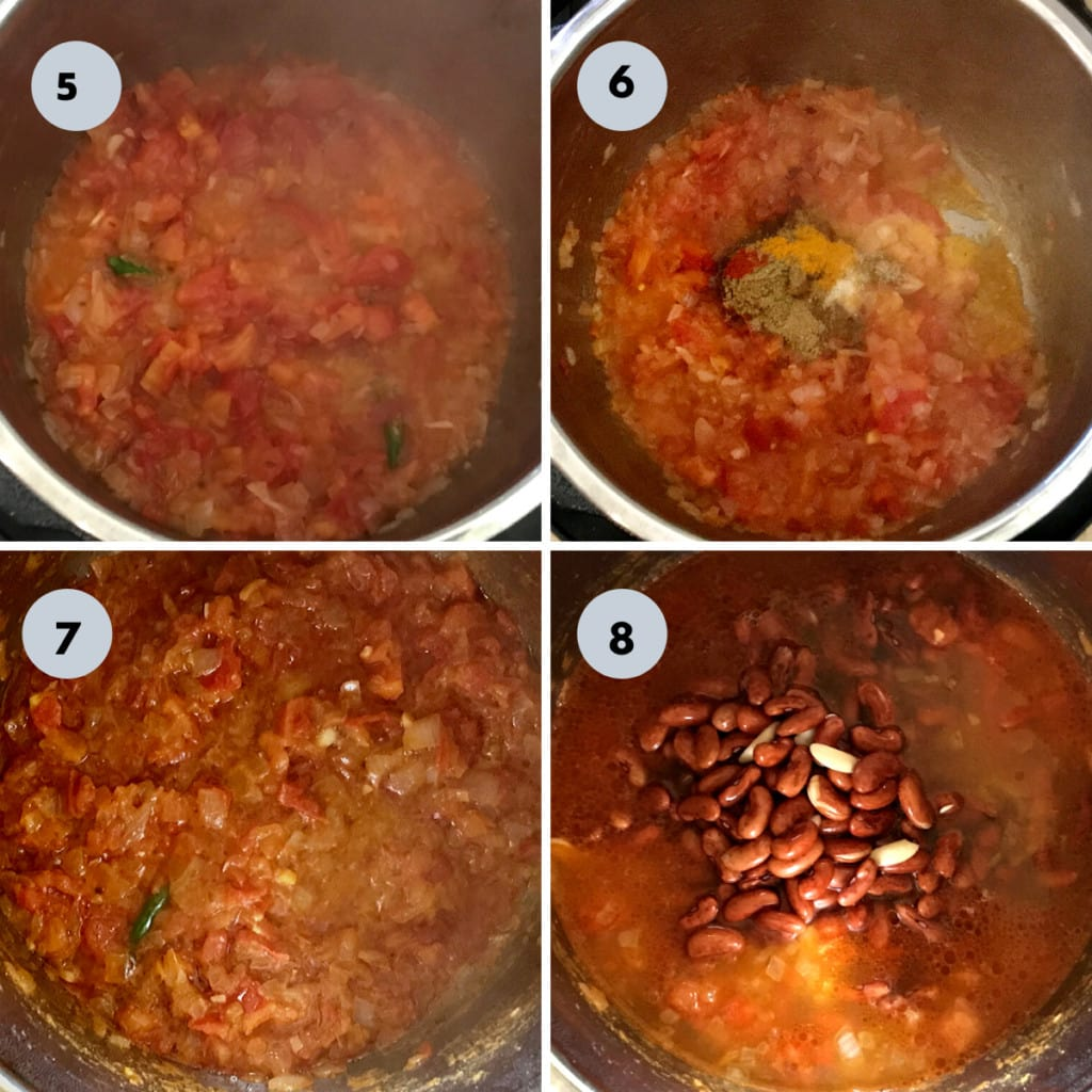 making punjabi rajma