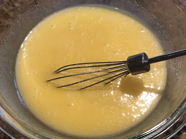 whisk the eggs to make the best brownies