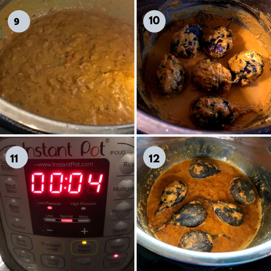 gutti vankaya kura procedure pics making in the instant pot