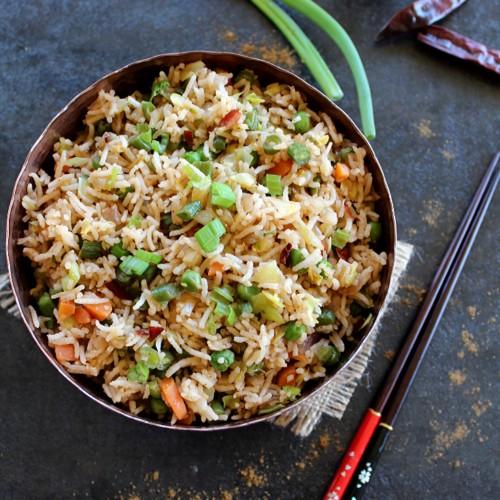 Indian Fried Rice Indo Chinese Veg Fried Rice Madhu S Everyday Indian
