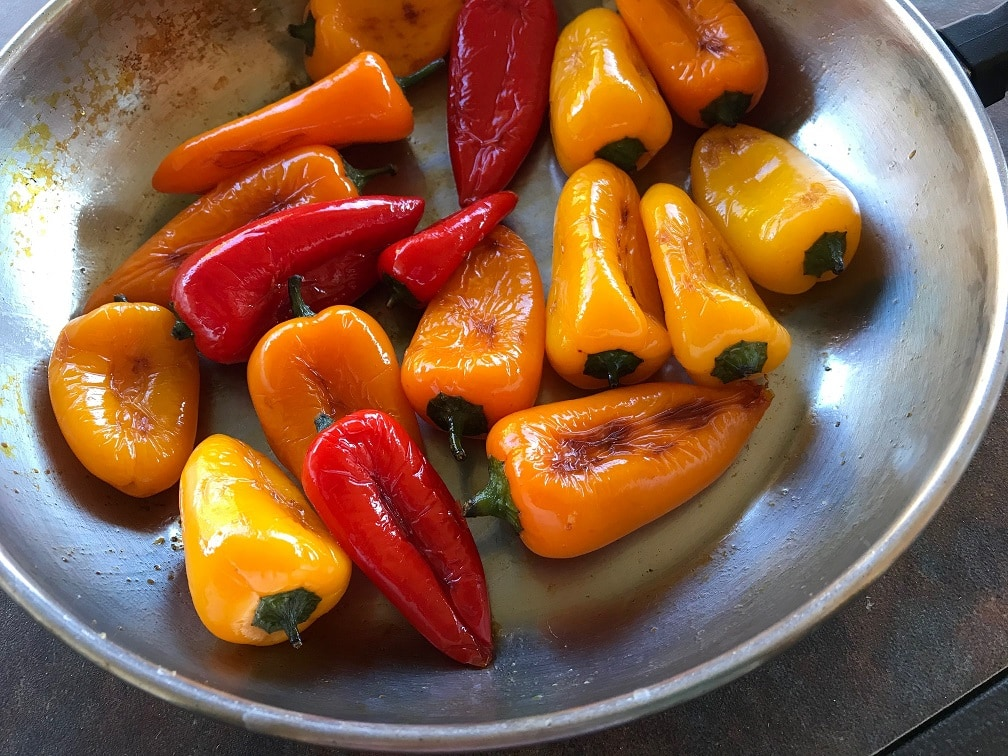 pan fried peppers