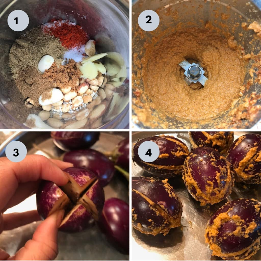 stuffed egg plant curry procedure