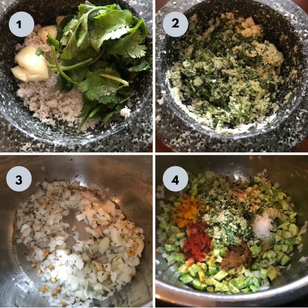 making of tindora sabzi with pictures