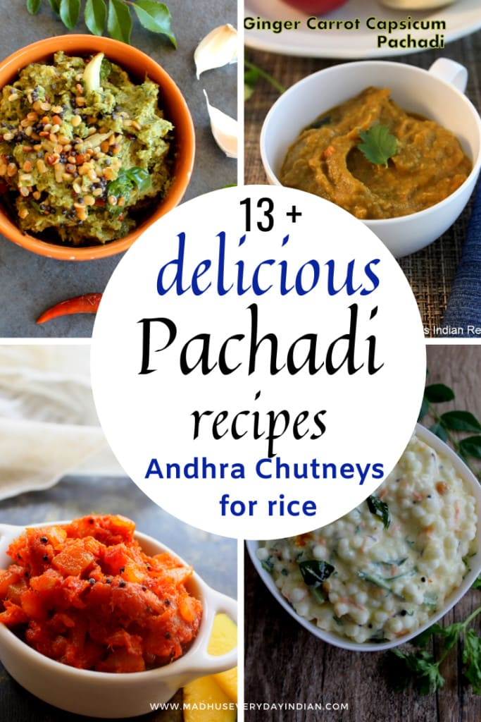 collection of andhra style pachadis for rice