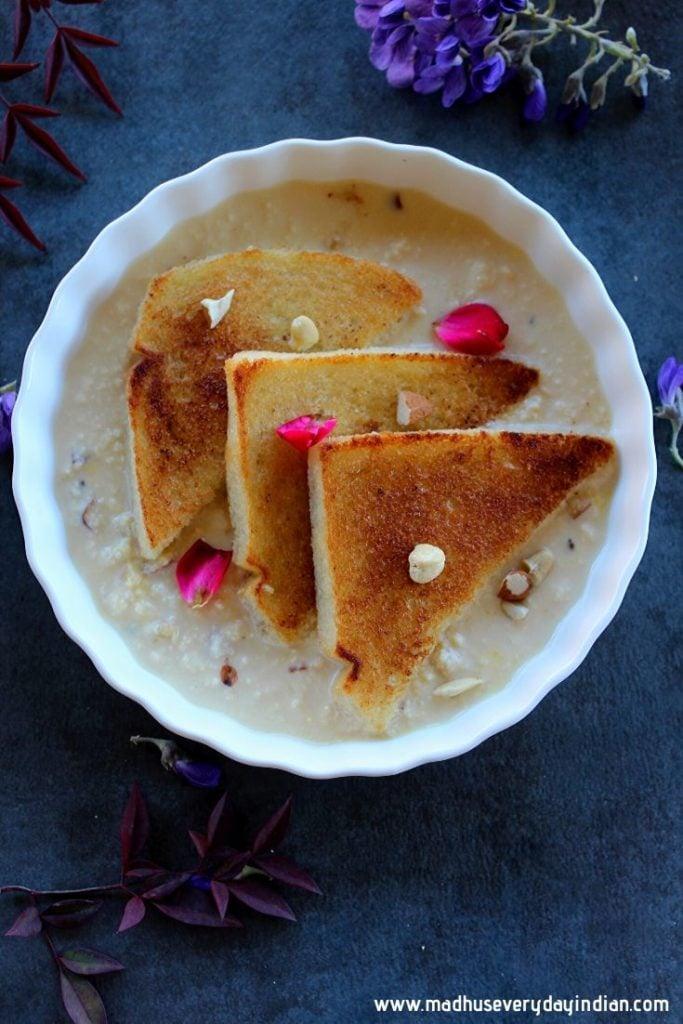 homemade rabri served with shahi tukda