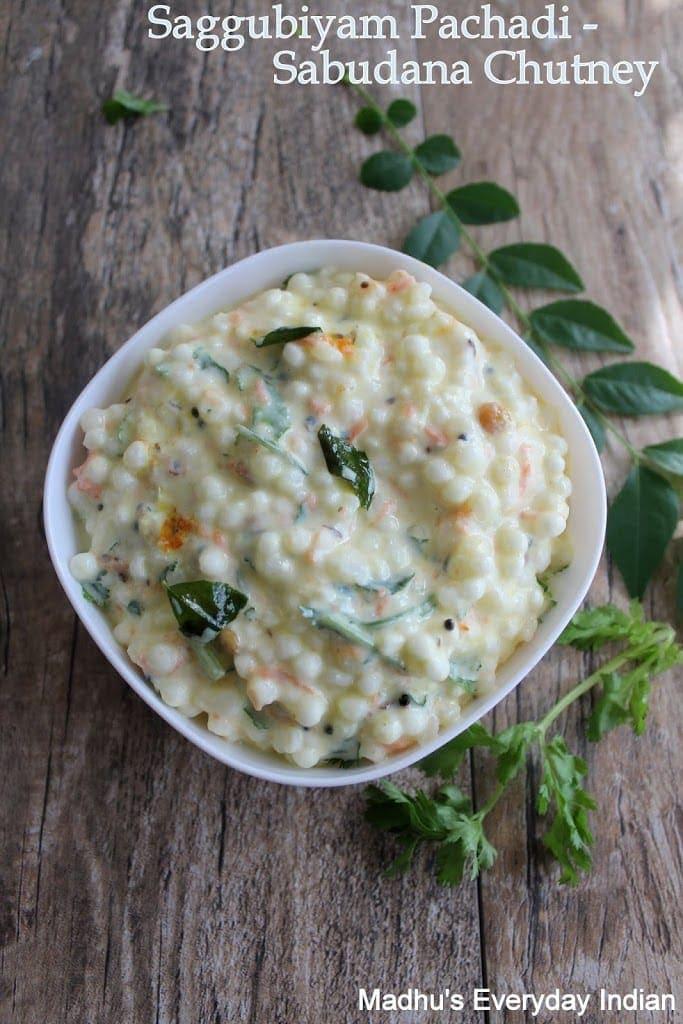 sabudana chutnet garnished with coriander leaves