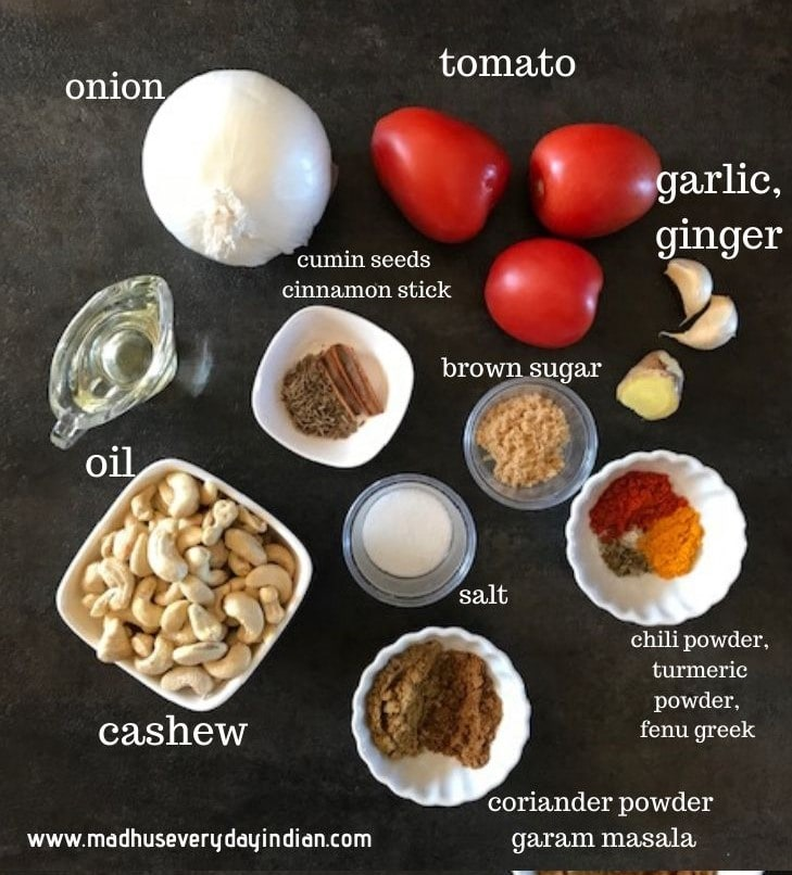 cashew curry ingredients