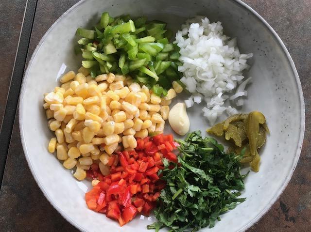 masala corn toast ingredients