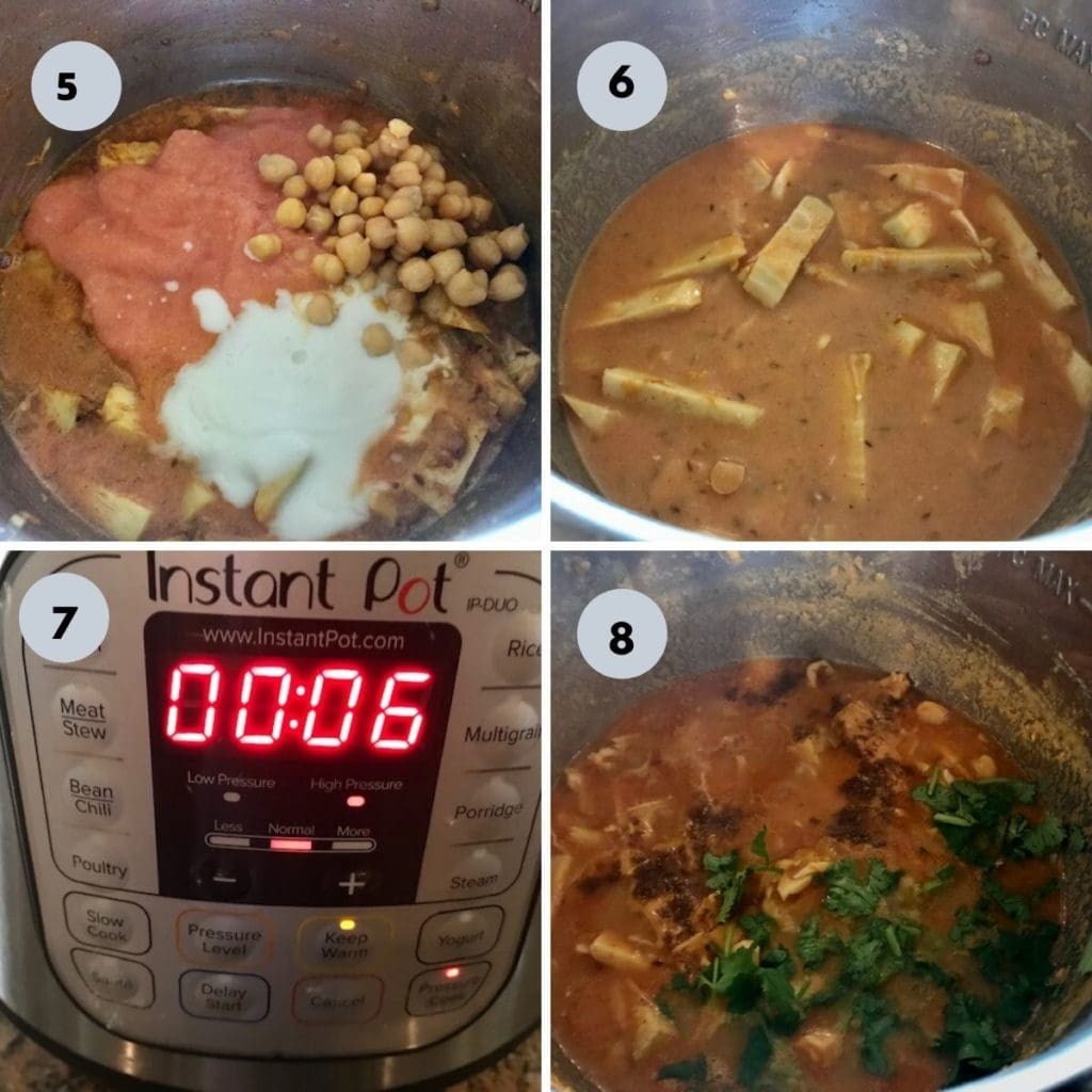 cooking jackfruit indina curry in the instant pot